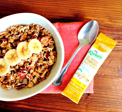 Maple Banana Granola Recipe