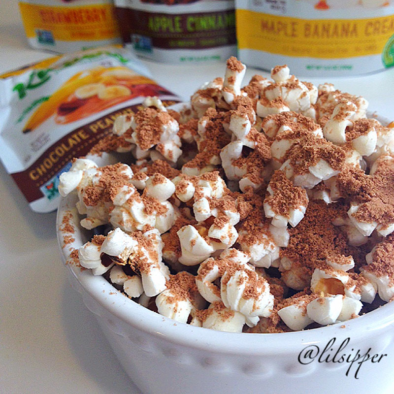 Chocolate Peanut Butter Banana Popcorn